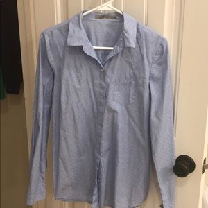 Blue button down